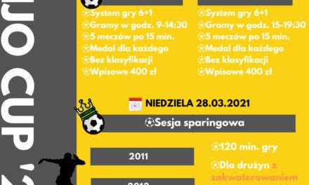 ZAPRASZAMY NA TURNIEJ POD BALONEM 27.03.2021 – JJ SPORT CENTER SKOTNIKI/KRAKÓW